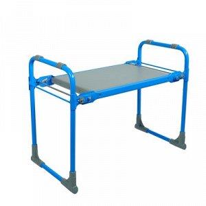 Скамейка-Перевертыш садовая складная 56 х 30 х 42,5 см, голубая, макс. нагрузка 100 кг