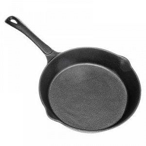 Сковорода чугунная 2 слива, d25 см