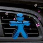 Ароматизатор для автомобиля голубой хром Цветы Лотоса