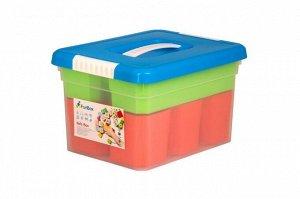 Ящик для хранения 5л KID'S BOX с ручкой (6 вставок+ лоток), 160 х 250 х 200 мм, 1/4