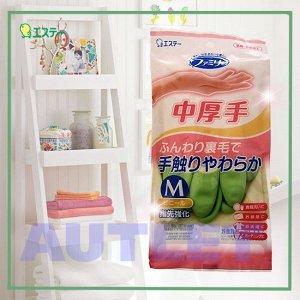 """ST """"Family"""" Перчатки для бытовых и хозяйственных нужд, средней толщины, размер M (зеленые)"""