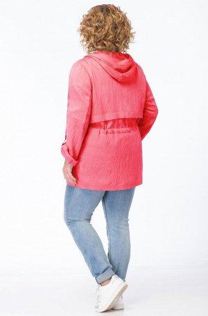 Куртка Куртка Linia-L А-1633 коралл  Состав: Вискоза-85%; ПА-15%; Сезон: Лето Рост: 164  Текстильная куртка среднего объёма. Рукав втачной длинный, с регулировкой по длине (пата с кнопкой). Застёжка
