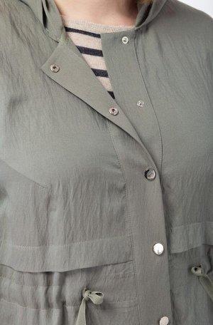 Куртка Куртка Linia-L А-1633 хаки  Состав: Вискоза-85%; ПА-15%; Сезон: Лето Рост: 164  Текстильная куртка среднего объёма. Рукав втачной длинный, с регулировкой по длине (пата с кнопкой). Застёжка це