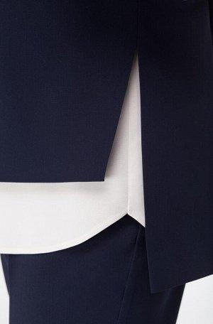 Костюм Костюм Linia-L А-1689  Сезон: Осень-Зима Рост: 164  Повседневный текстильный 3-х предметный комплект, состоящий из жакета, блузки и брюк. Жакет на подкладке, прямого силуэта с разрезами в боко
