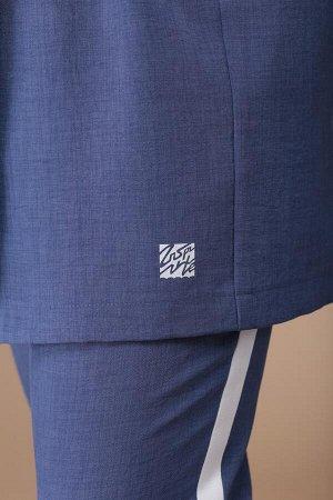 Костюм Костюм Linia-L А-1730  Сезон: Лето Рост: 164  Повседневный 3-х предметный комплект, состоящий из жилета, брюк и блузы. Жилет и брюки выполнены из текстильной ткани, блуза из трикотажа. Жилет с