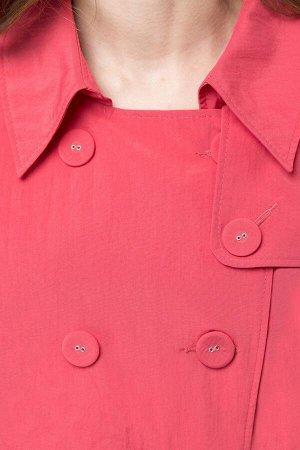 Пальто Пальто Linia-L Б-1185 коралл  Состав: Нейлон-100%; Сезон: Весна-Лето Рост: 164  Пальто женское полуприлегающего силуэта на подкладке. Рукав реглан длинный. Спереди талиевые вытачки, карманы с