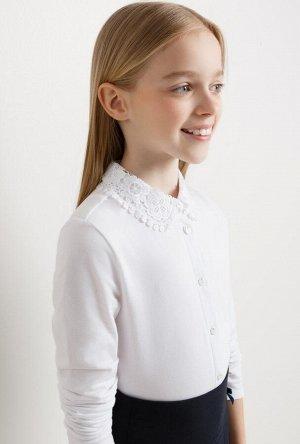 Трикотажная блуза для школы