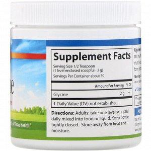 Carlson Labs, Глицин, порошок аминокислоты, 3,5 г (100 г)
