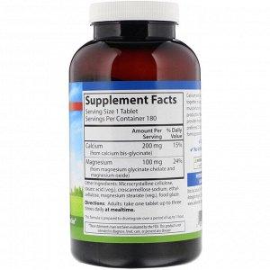 Carlson Labs, Chelated Cal-Mag, 180 таблеток