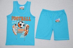 Костюм/майка+шорты Футбол бирюза