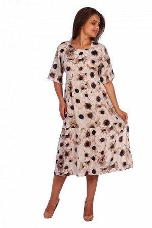 Платье Гвеннет (3235). Расцветка: бежевые цветы