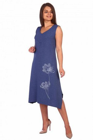 Платье - сарафан Агнесса (3194). Расцветка: джинс