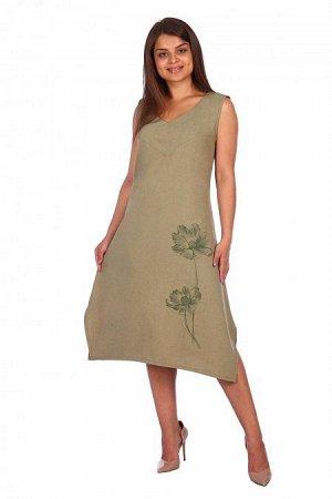 Платье - сарафан Агнесса (3194). Расцветка: хаки