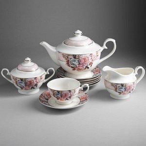 """Набор чайный 15 предметов МА025P/15 """"Пудровый шлейф"""" в подарочной коробке"""