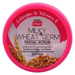 Скраб для лица Banna с коллагеном и маслом зародышей пшеницы, 100 мл