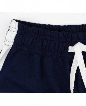 Тёмно-синие спортивные брюки для мальчика Цвет: тёмно-синий