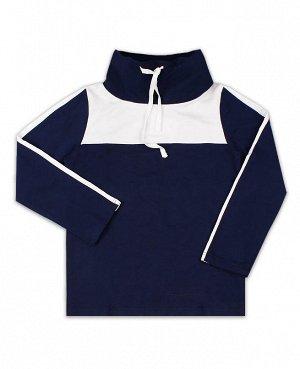 Спортивный джемпер для мальчика тёмно-синего цвета Цвет: тёмно-синий