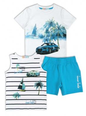 Комплект для мальчика: шорты + 2 футболки