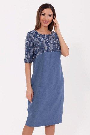 #70283 Платье (NIKA) Синий