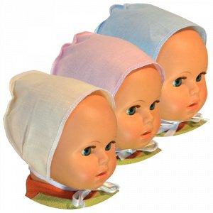 Чепчик Чепчик для новорожденного, выполнен из гладкоокрашенной бязи.