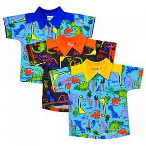 Рубашка Цвет: Микс; Материал: кулирное полотно; Модель: с коротким рукавом; Состав: 100% хлопок Рубашка на кнопках, выполнена из легкого трикотажного полотна. Расцветки в ассортименте. Упаковано по 1