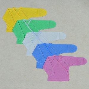 Распашонка Цвет: Микс; Материал: ажурное полотно; Модель: с универсальным рукавом; Состав: 100% хлопок Описание Распашонка с универсальным рукавом, сбоку с двух сторон кнопки, выполнена из ажурного тр