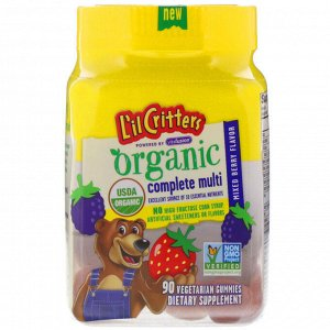 L&#x27 - il Critters, Organic Complete Multi, Mixed Berry Flavor, 90 Vegetarian Gummies