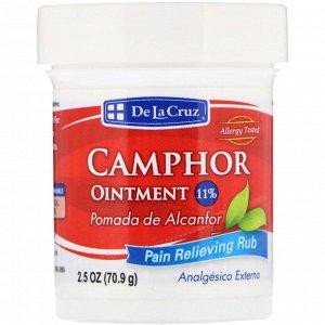 De La Cruz, Камфорная мазь, средство для устранения боли, 2,5 унции (70,9 г)