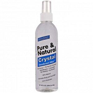 Thai Deodorant Stone, Чистый и натуральный дезодорант Crystal Deodorant Mist, без запаха, 240 мл (8 унций)
