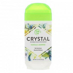 Crystal Body Deodorant, Невидимый твердый дезодорант, ваниль и жасмин, 70 г
