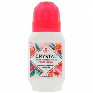 Crystal Body Deodorant, Натуральный шариковый дезодорант с гранатом, 2,25 жидкой унции (66 мл)