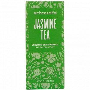 Schmidt&#x27 - s, Для чувствительной кожи, жасминовый чай, 3,25 унц. (92 г)