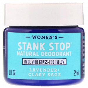 Fatco, Stank Stop Natural Deodorant, Women&#x27 - s, Lavender + Clary Sage, 1 fl oz (29 ml)