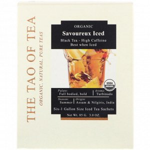 The Tao of Tea, Savoureux Iced Tea, Black Tea, 6 -1 Gallon Sized Sachets, 3.0 oz (85 g)