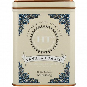 Harney & Sons, Чай коморо с ванилью, 20 пакетиков, 1.4 унции (40 г)