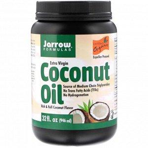Jarrow Formulas, Органический продукт, кокосовое масло холодного отжима, полученное методом холодного прессования, 946 мл
