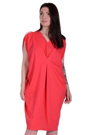 Платье П 589 (коралловый)