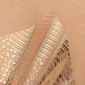 Ацетатный лист с фольгированием «Зимний лес»