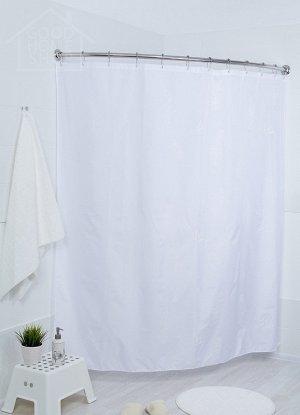 Штора для ванной белая 180х180см 001-Е