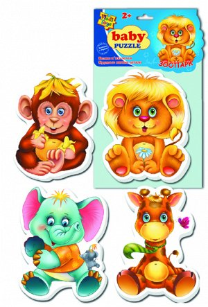 "VladiToys. Мягкие пазлы (Baby puzzle) арт.VT1106-10 ""Зоопарк"""