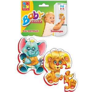 "VladiToys. Мягкие магнитные пазлы (Baby puzzle) арт.VT3208-01 ""Зоопарк"" /100"