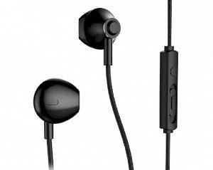 Наушники Remax RM-711 черные с микрофоном
