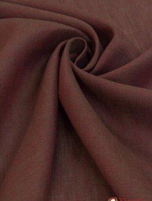 "Сорочечный лен ""Бордово-бежевый меланж"" лен-100%, 1.5м"