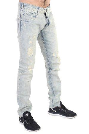 Клубные мужские джинсы с потёртостями – классика «5 карманов» №286