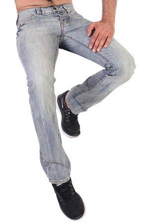 Выбеленные мужские джинсы на пуговицах – с кожаным ремнем – бомба! Кэжуал стиль: клуб/город! №246