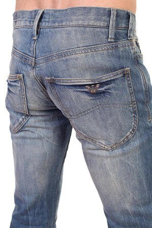 Классические мужские джинсы на пуговицах – плотный материал не вытягивается на коленках №222