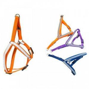 Шлейка светоотраж.Ecco-Sport Reflex 15мм (шея 35-40см, грудь 40-50см)