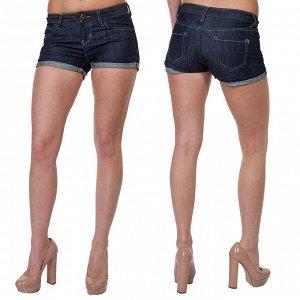 Летние женские шортики SEMIR Jeans. Джинсовая коротенькая классика со стильными подворотами №268