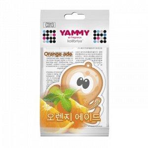 "Ароматизатор подвес. ""Yammy"" картон с пропиткой Осьминог ""Orange Ade"""