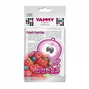 "Ароматизатор подвес. ""Yammy"" картон с пропиткой Осьминог ""Fresh Berries"""